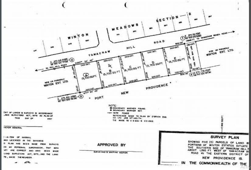 YAMACRAW HILL ROAD, ,Lots/acreage,For Sale,YAMACRAW HILL ROAD,43710