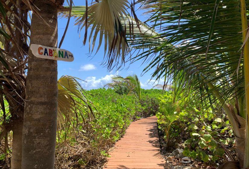 Boardwalk to the Cabana